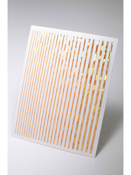 3D металлические наклейки полосы для дизайна ногтей (золото, голография)