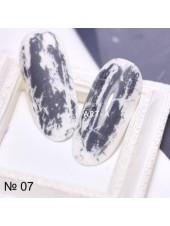 Фольга для дизайна ногтей графит №07
