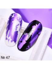 Фольга для дизайна ногтей аметист №47