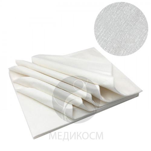Полотенце люкс 40х70 см., бамбук 56 гр/м2, белое, 15 шт. в пачке