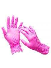 Перчатки розовые Wally Plastic, S 50 пар.