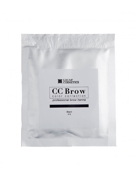 Хна для бровей CC Brow (black) в саше (черная), 5 гр