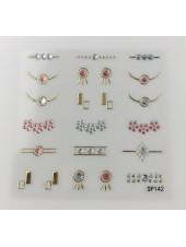 3D наклейки для дизайна ногтей №142