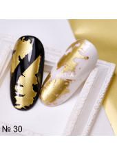Фольга для дизайна ногтей ЗОЛОТО матовое №30