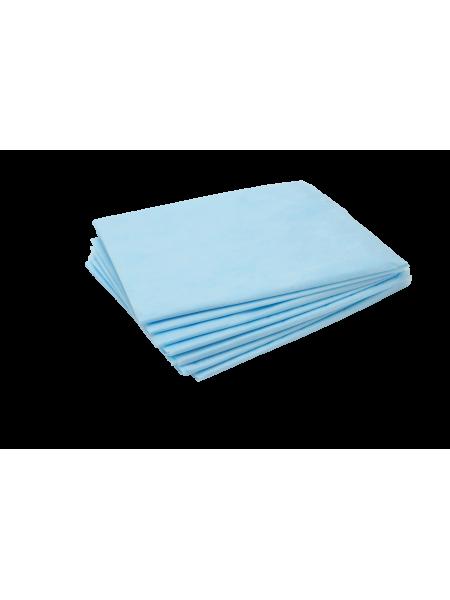 Простыня одноразовая 70*200 SS премиум голубой 10шт.