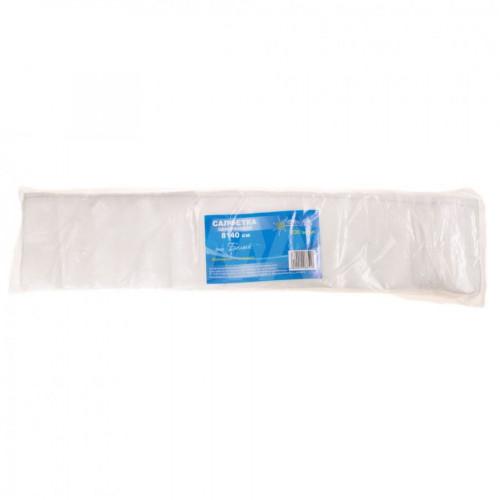 Салфетка одноразовая 8*40 спанлейс белый White line 100шт. пачка